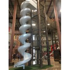 LMA28 Aluminum Spiral Slide Chute for 28 foot Deck Height