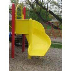 L336 Aluminum Spiral Slide Chute 90 Degree Tot Slide