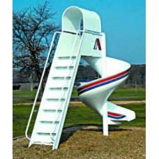 L815 Spiral Aluminum Slide 7 foot Platform Freestanding
