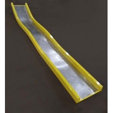 D820C Straight Slide WAVE for 10 foot Deck Height Stainless Steel