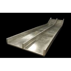 DS418-SS-6 Straight Slide Double Bedway 9 foot Deck Stainless 6 inch Rail