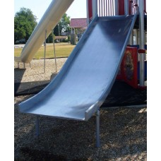 DW410C Straight Slide Double Wide 5 foot for Deck Height Stainless Steel Chute Only