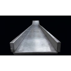 DW420-6SS Straight Slide Double Wide for 10 foot Deck Stainless Steel