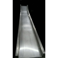 D412C Straight Slide for 6 foot Deck Height Stainless Steel Chute Only