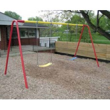 10 foot High Top Beam Swing Set Powder Coated 1 Bay