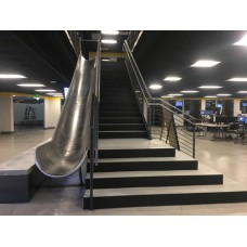 TR424SS Stainless Steel Trough Slide Chute for 12 foot Deck Height