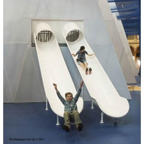 Tr416c Aluminum Trough Slide Chute For 8 Foot Deck Height
